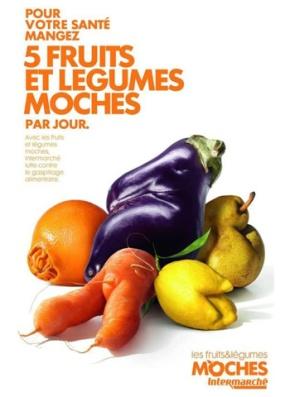 "La imagen, de la campaña ""Fruits et Legumes Moches"""